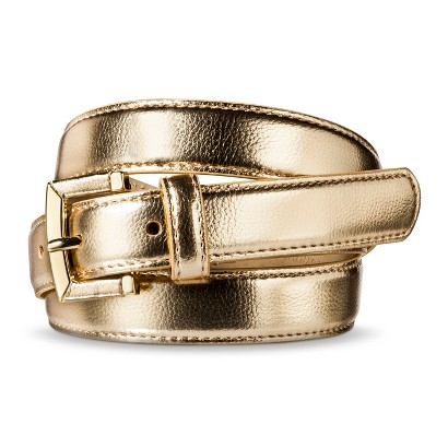 Merona® Solid Belt - Gold
