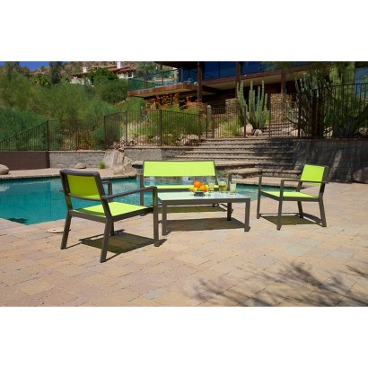SOL Sling Patio Furniture Set Tar