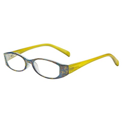 ICU Olive Paisley Reading Glasses