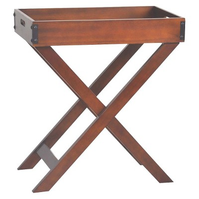 Threshold Accent Table Wood Tray Brown
