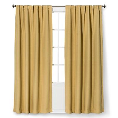 """Threshold™ Basket Thermaweave Light Blocking Curtain Panel - Basic Tan (54x95"""")"""