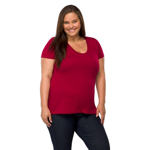 Women's Plus Size Short Sleeve Scoop Tee-Pure Energy