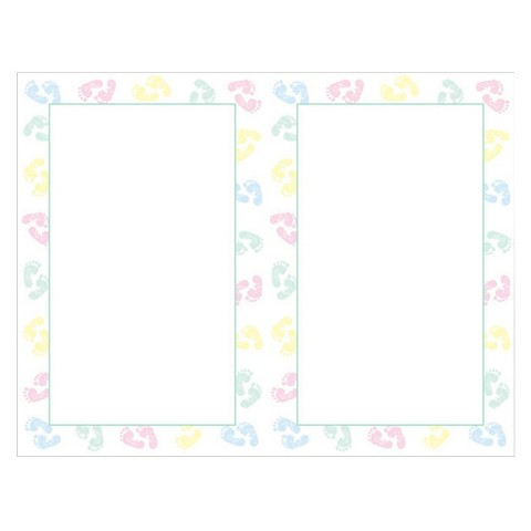 baby feet border themed shower invitations 16 count product details