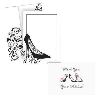 Black Stiletto Thank You Kit - Multicolor