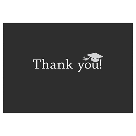 Graduation Thank You Cards (50 count) - Black/White