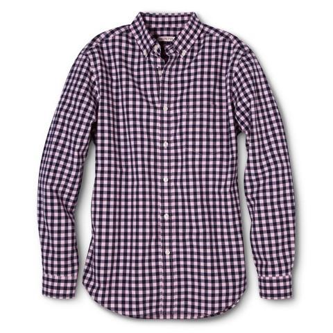 Merona Men's Gingham Button Down Shirt