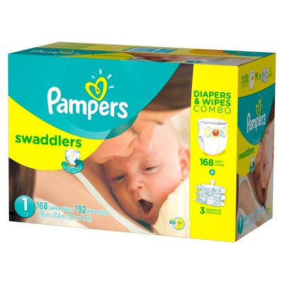 Pampers Swaddlers Diapers & Wipes Combo Pack (Select Size)