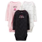 Just One You™Made by Carter's® Newborn Girls' Gramma's Girl 3 Pack Long-sleeve Bodysuit - Pink&#47