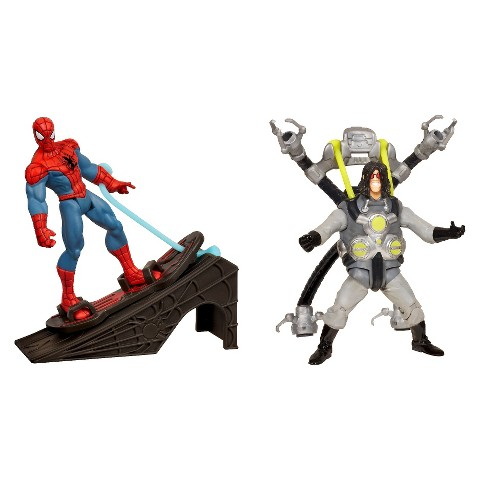 Marvel Ultimate Spider-Man Power Webs Figure 2-Pack (Flip Strike Doc Ock and Rocket Ramp Spider-Man)