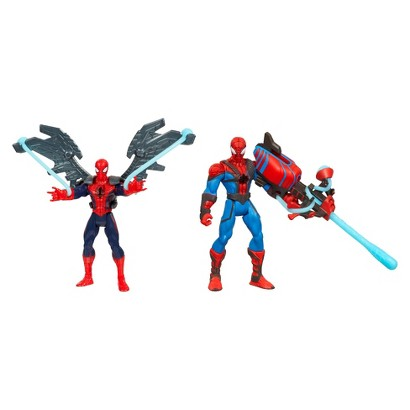 Marvel Ultimate Spider-Man Power Webs Figure 2-Pack (Web Wingsuit Spider-Man and Crossbow Chaos