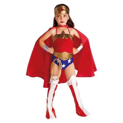Girls' DC: Justice League Wonder Woman Child Costume