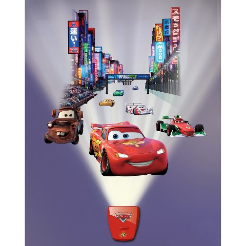 Wild Walls Cars Lightning Speed Grand Prix Wall Decal