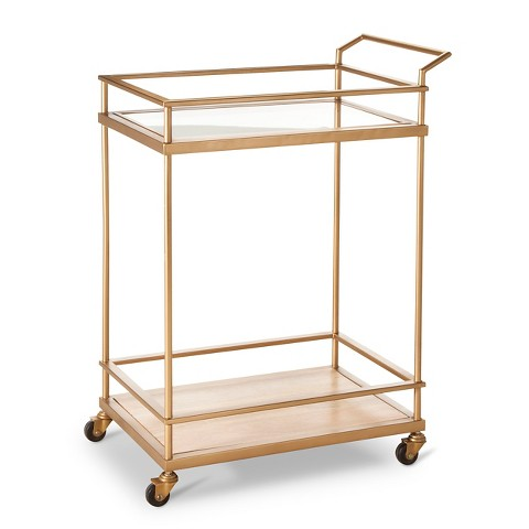 it came with a coupon i knew i loved it and when i just so happened to spot one at my target shopping during one of my trips it came home with - Rose Gold Bar Cart
