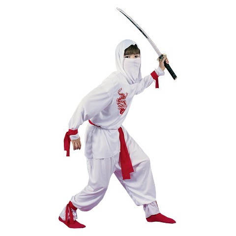Boy's White Ninja Deluxe Child Costume