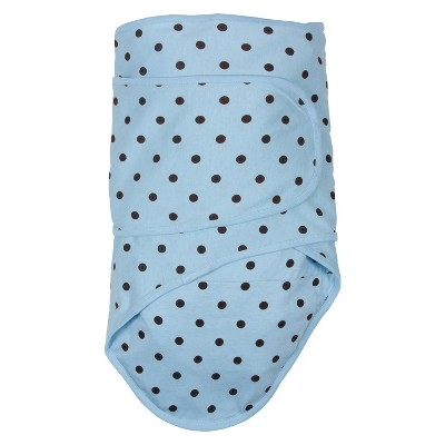 Swaddle Wrap Miracle Blanket Baby Blue Brown