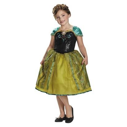 Image of Girl's Frozen Anna Sequin Deluxe Costume Medium
