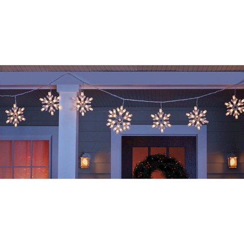 Snowflakes String Lights Christmas Wikii