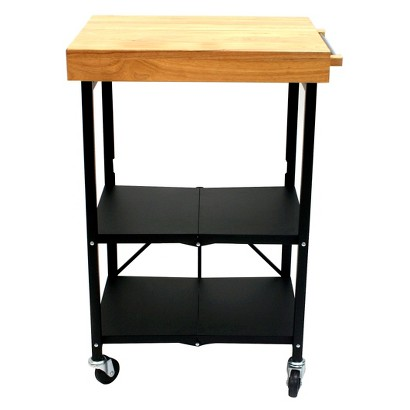 Origami kitchen cart foldable black target - Target kitchen cart ...