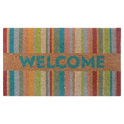 "Threshold™ Floral Welcome Stripe - Multi (1'6""x2'6"")"