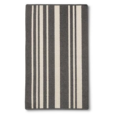 """Maples Stripe Doormat - Gray(1'8""""x2'10"""")"""