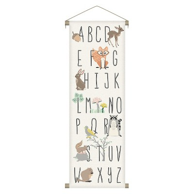 Alphabet Forest Animals Canvas Wall Banner