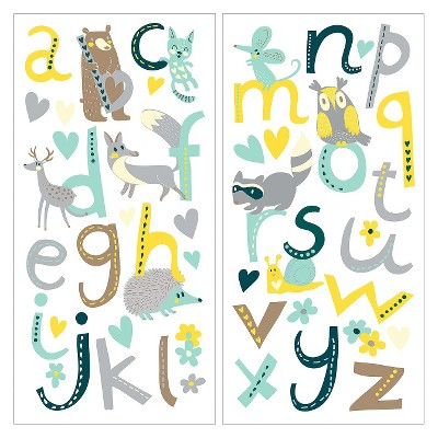 Animal Alphabet Self-Adhesive Wall Decal