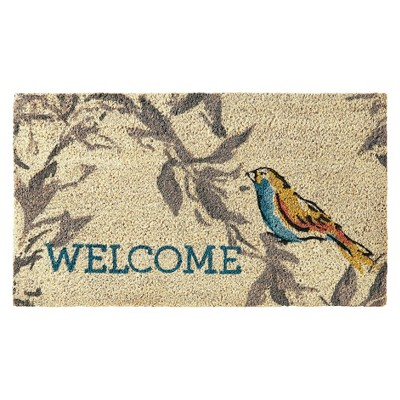 TH 18x30 Bird  Welcome  Coir Doormat