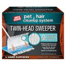 Simple Solution Pet Hair Cleanup System Twin-Head Sweeper