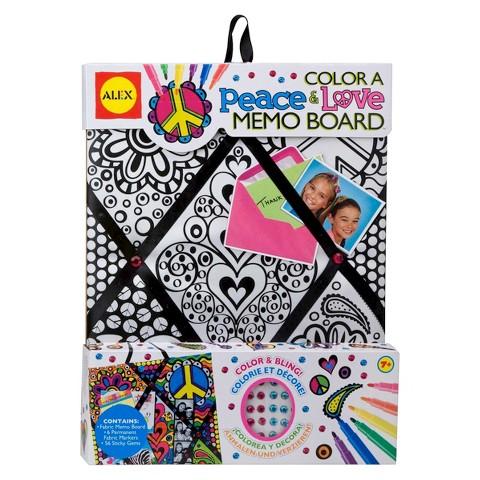 Alex Color a Memo Board-Peace & Love