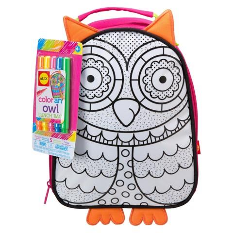 Alex Color A Lunch Bag-Owl