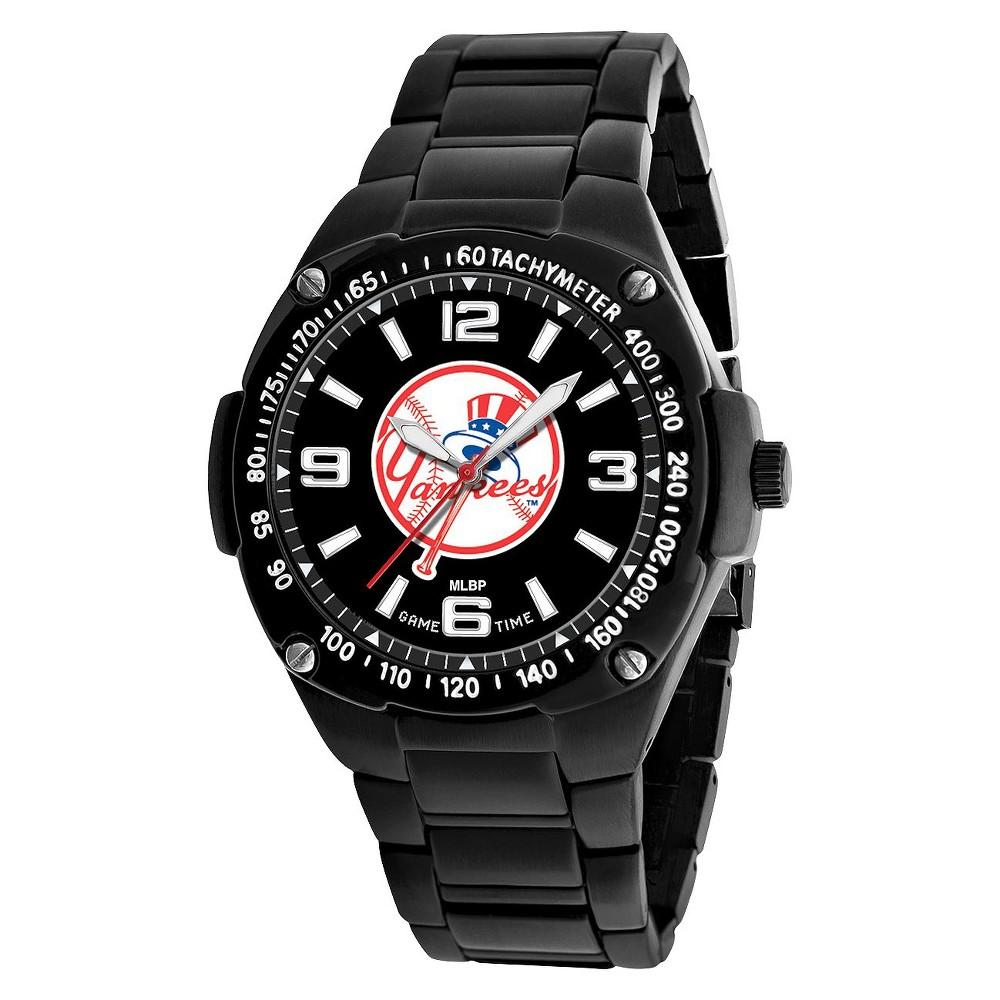 New York Yankees Tophat Men's Game Time Gladiator Series Watch Black, New York Yankees Tophat - Black