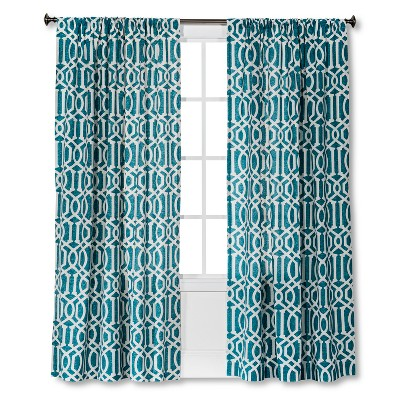 "Threshold™ Farrah Lattice Curtain Panel - Ancient Aqua (54x84"")"