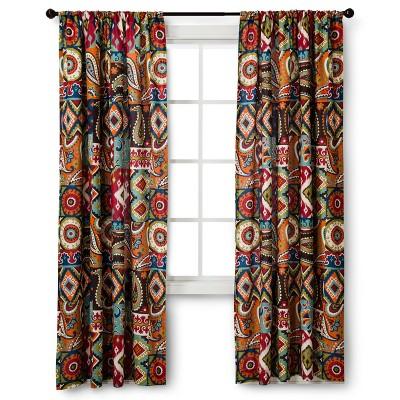"Mudhut™ Makayla Curtain Panel - Multicolor (54x84"")"