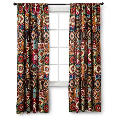 mudhut makayla curtain panel multicolor 54x84 target