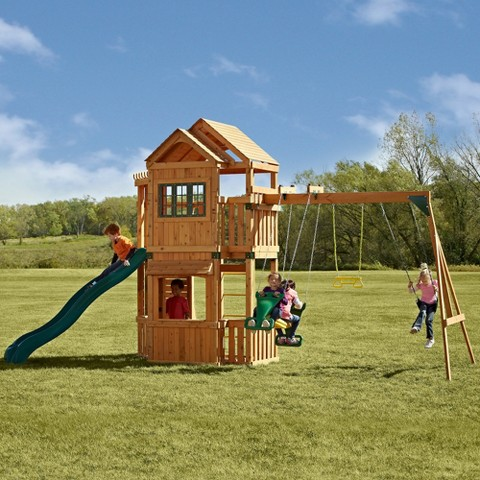 Swing-N-Slide Mountain Hollow Wooden Play Set