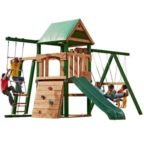Swing-N-Slide Grand Trekker Wooden Play Set