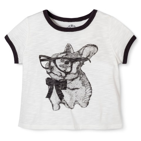 Girls' Bunny Graphic Tee