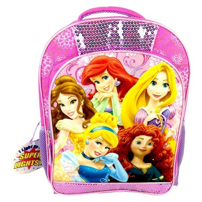 Disney Princess Light-Up Backpack - Pink and Purple