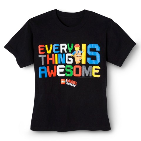 Lego® Everything Awesome Boys' Graphic Tee - Black