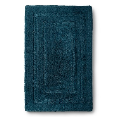 "Egyptian Cotton Bath Rug - Heir Blue (22x35"") - Fieldcrest™"