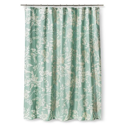 Threshold™ Floral Shower Curtain - Teal