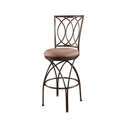 Powell Big& Tall Cross Leg Counter Stool - Bronze