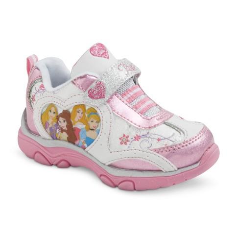 Toddler Girl's Disney Princess Light Up Sneakers - Pink
