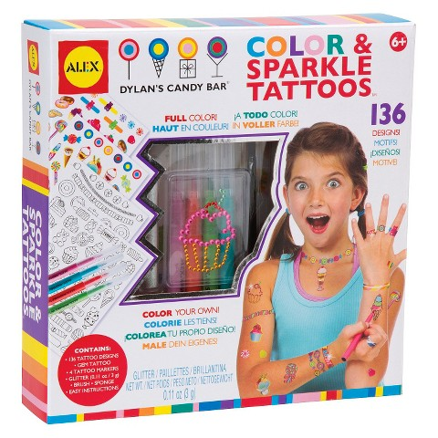 Alex Dylan's Candy Bar Color & Sparkle Tattoos