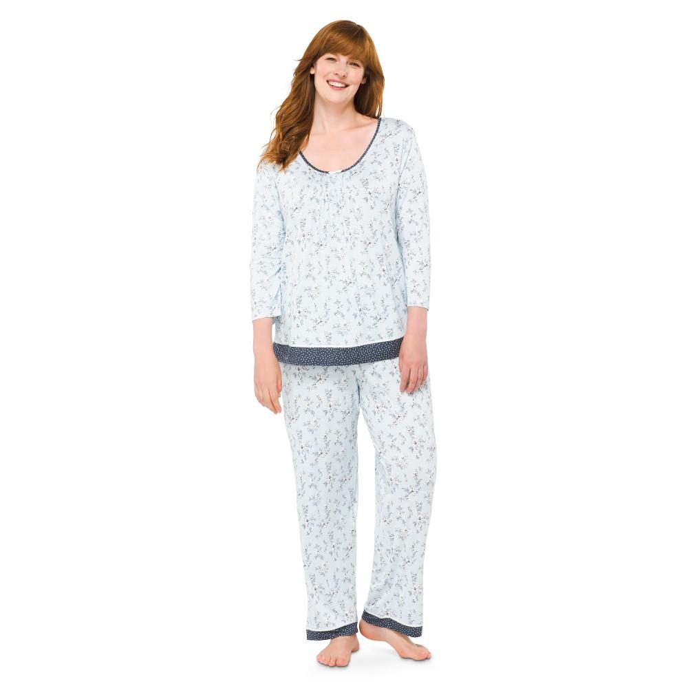 iRelax Women's Plus-Size Pajama Set - Blue Floral