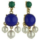 Social Gallery by Roman™  Drop Dangle Earrings Cabochon - Gold/Multicolor