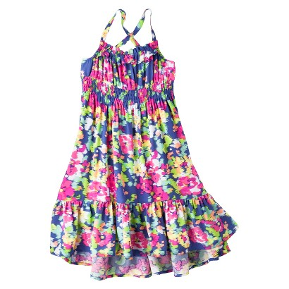 Cherokee® Infant Toddler Girls' High Low Patterned Maxi Dress