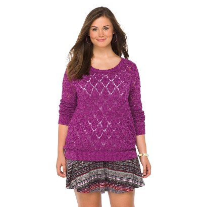 Plus Size Long Sleeve Tunic Berry