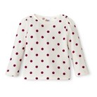 Infant Toddler Girls' Long Sleeve Polka Dot Thermal Shirt