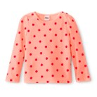 Infant Toddler Girls' Long Sleeve Polka Dot Thermal Shirt